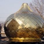 Новый купол для храма Вознесения Господня пока на земле