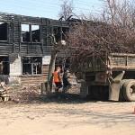 Вырубка деревьев на ул.Военной