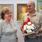 В.И.Лебедев принимает поздравления от коллег