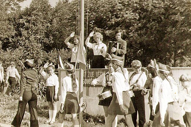 """первый приезд чехословацких пионеров в лагерь """"Солнечный"""" в 1973 году"""