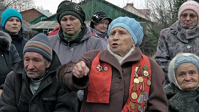Екатерина Шкараева на митинге в защиту Ликоушинской рощи