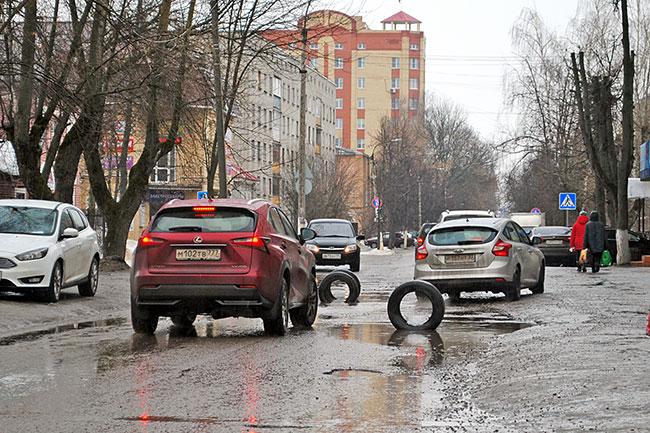 Весна. Улица Первомайская в Александрове.