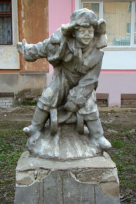 "Скульптура ""Ленин на санках"""