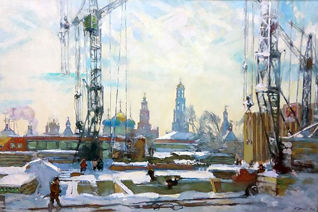 Леонид Демин, «Загорск строится», 1980 г.