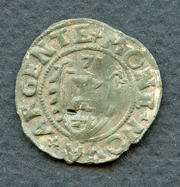 2.Шиллинг Курляндского герцогства 1575 года.